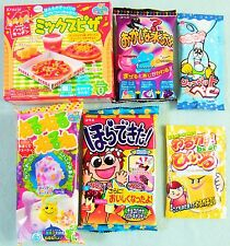 6 PCS SET Japanese Candy Kit Kracie Meiji Coris  popin cookin kitchen Mix Pizza