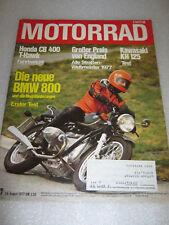 Motorrad 17/1977 24.08.Zeitschrift Zeitung Magazin BMW R80/7 Verbundrad Honda