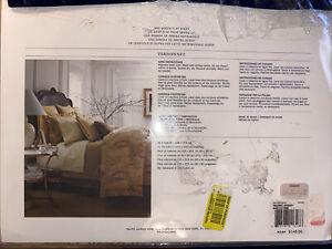 Ralph Lauren Verdonnet Jacquard Camel Queen Flat Sheet Brand NEW