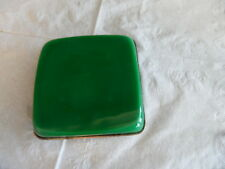 Antique Opaline glass box  decorative bronze mounts green color