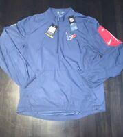 Nike On Field Houston Texans Hybrid Fly Rush Pullover Jacket M Medium New NWT!!