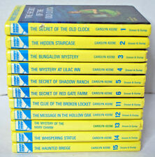 Vintage NANCY DREW Mystery Stories Books 1980's & 1990's Yellow Glossy Lot of 11