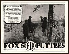 1931 Fox Puttees Moose Call Men Hunting Alfred Yates Print Ad