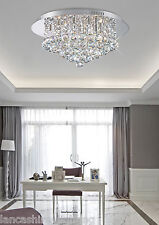 Stunning Flush Ceiling Light In Chrome With Crystal Ball Droplets 6x40W Halogen