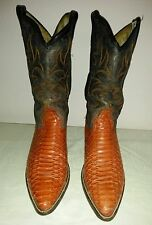 CARA BLANCA Men's Snakeskin/Leather Cowboy/Western Boots Size US 10.5 Mex. 9.5