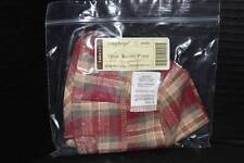 Longaberger Oval Kiddie Purse Orchard Park Plaid Over the Edge Liner - New