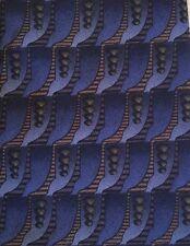 VAN HEUSEN Mens Blue Geometric 100% Silk  Necktie Tie