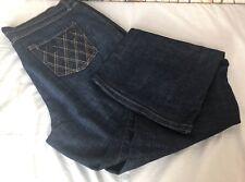 Jeanstar Women's Jeans Size 16 Straight Leg Dark Blue Wash