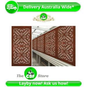 5 PACK-The Warrior-AUS Made Corten® Rusting Steel-Privacy Screen–600x1200–1.6mm