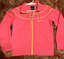 Nwot Girls Kids Nike Athletic Jacket Polyester Size 6 Pink