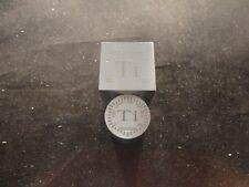 TITANIUM CUBE-5 OUNCE-& Titanium Rod/ Cylinder 2 oz. - 2 pcs total 99.9% PURE