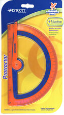 Westcott Protractor Microban) - Orange, Brand New