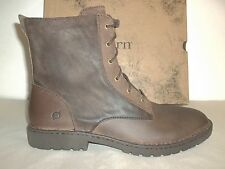 Born Size 13 M Allen Brown Distressed Leather Lace Up Ankle Boots New Mens Shoes