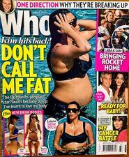 WHO Magazine. Sept 7 2015. ONE DIRECTION Celine Dion KIM KARDASHIAN Tom Brady