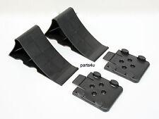 2x Unterlegkeile schwarz Bremskeil  mit Halter Keil für Anhänger Hemmschuh Domar