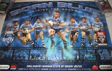 NSW 2006 State of Origin Team signed NRL Poster + Photo proof & COA  (824)