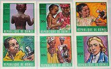 GUINEA 1970 553-58 B 552-57 against Smallpox Measles Kampf Pockern Masern MNH