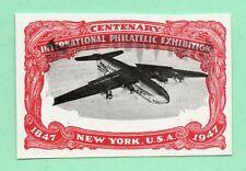 Inverted Vignette Error from 1947 Old US Stamp Imperf No Gum UpsideDown Airplane