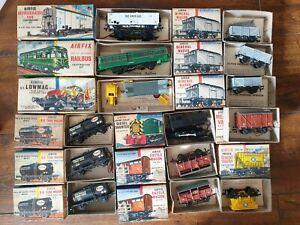 Airfix Job Lot Of 00 Gauge Railway Models Wagons Railbus Diesel Shunter