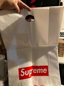 "🔥Supreme 23""x16"" White Shopping Tote Bag Red Box Logo SoHo NYC x3 BUNDLE 🔥"