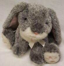 "RUSS VINTAGE BOUNCY THE LOP LONG EARED GRAY BUNNY 7"" Plush STUFFED ANIMAL Toy"