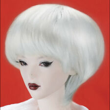 "[Dollmore] 16 "" Fashion doll wig  11cm - 13cm BJD (4-5) Enfant Short Cut (White)"