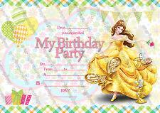 Disney Princess Bella inviti festa di compleanno pacco da  10 spessi biglietti