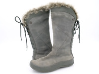The North Face Womens 8 Gray Suede Primaloft Insulated Mid Calf Boots
