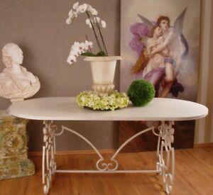 Gartentisch XXL Esstisch Shabby Chic Eisentisch Antik Tisch Metalltisch Terrasse