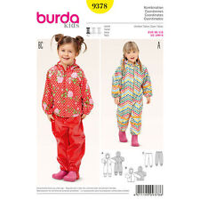 Burda Sewing Pattern 9378 SZ 18m-6 Childs Hooded Jumpsuit Snowsuit Jacket Pants
