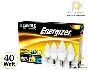 4 PACK ENERGIZER LED CANDLE BULBS 40 W ES E14 EDISON SCREW WARM WHITE DAYLIGHT