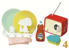 """RE-MENT """"Snoopy Retro Kitchen #4-Radio Music, Dishes"""",1:6 Barbie food miniature"""