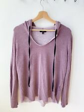 Anthropology Drew NYC Mauve Raw Hem Woman's Hoody Size Medium 12
