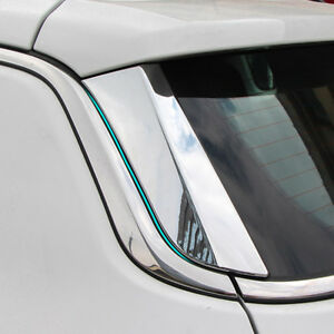 For Jeep Compass 2017 2018 Chrome Rear Window Spoilers Side Moulding Cover Trim