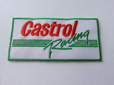 MOTOR RACING RALLY SPORT FUELS OILS SEW / IRON ON PATCH:- CASTROL RACING (a)