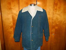 Vtg. LEE STORM RIDER  (Size Medium) SHERPA LINED INSULATED DENIM JACKET Mens USA