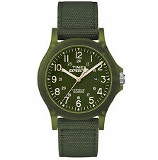 New Timex Expedition Acadia Mid Size Nylon Strap Outdoor Watch Green TW4B09500