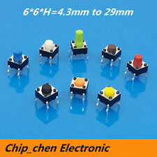 Tactile Push Button Switch Micro Switch button switches colourful 6*6 4.3-29mm