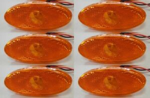 LED AMBER SIDE 6x MARKERS for RENAULT MASTER MK3 VAUXHALL MOVANO MK2 2010-16