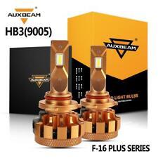 AUXBEAM 9005 HB3 H10 9145 70W 7000LM LED Headlight Bulbs Fog Kit 6000K + Decoder