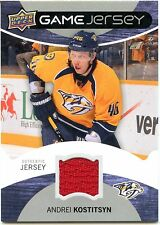 2012-13 Upper Deck Andrej Kostitsyn Authentic Game Jersey Nashville Predators