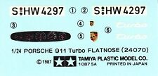 TAMIYA Decal 24070 1/24 Porsche 911 Turbo Coupe Flatnose