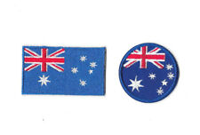 AUSTRALIA FLAG Iron on / Sew on 2-Piece Patch Set Embroidered Badge PS28
