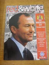 24/07/1999 Bristol City v Manchester City [Friendly] . Item in very good conditi