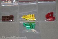 40 Stück Kabelsteckermuffen Spur H0 4 Farben rot/grün/gelb/braun
