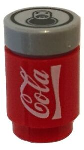 Soda can 'Cola' to fit Lego minifigures