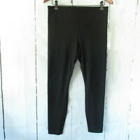 New $89 Athleta Black Elation Tight Leggings L Large Black High Rise Crop