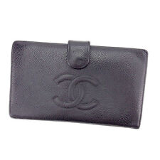 Chanel Wallet Purse Coin purse COCO Black Woman Authentic Used T1271