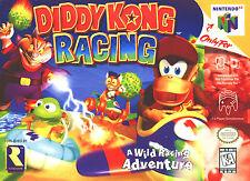 "Nintendo 64 N64 Diddy Kong Racing  Box Cover  8.5""x11""  Game Wall Poster Decor"