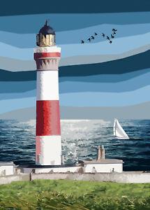 Buchan NessLighthouse  Limited Art Print By Sarah Jane Holt Large Version